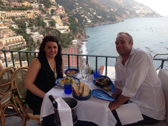 Caffè Positano : Stunning view, pretty good food