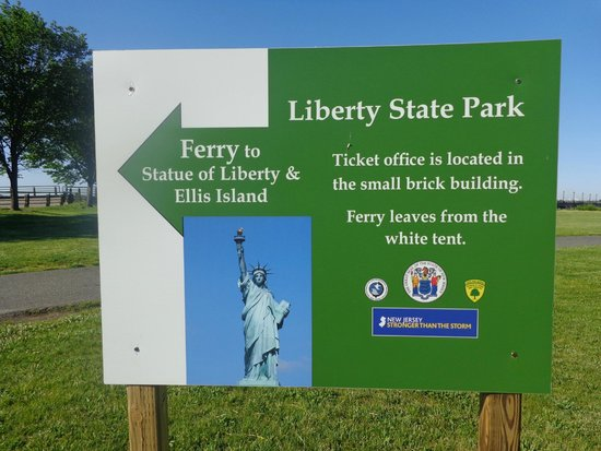 Liberty State Park: Ferry Sign