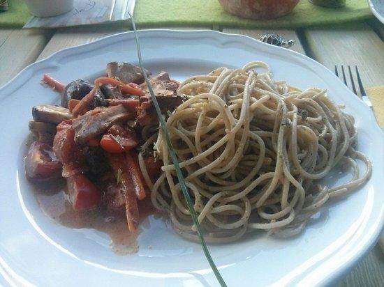 Cassiopaya : Spaghetti mit Cocktailtomaten und frischen Pilzen!