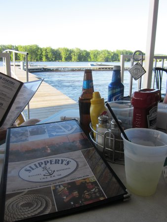 Slippery's Tavern and Restaurant: View from our patio seating...cool