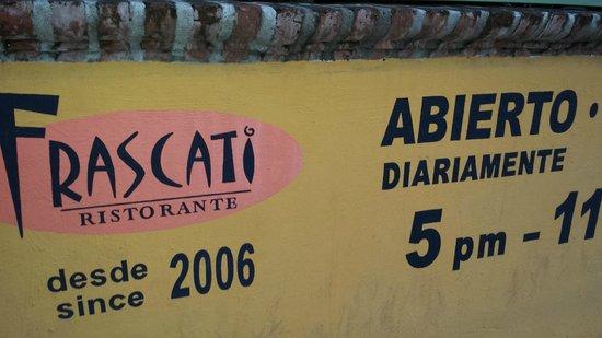 Frascati : Entrance