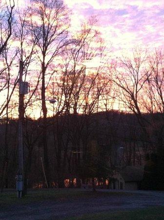 Philadelphia / West Chester KOA: Beautiful winter sunset.
