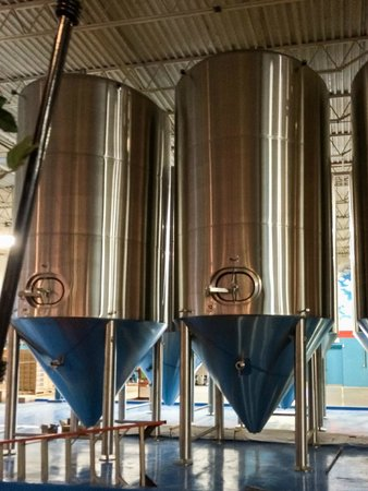 Fat Head's Brewery and Tap House: Brewery Tanks