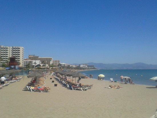 La Carihuela : Looking from the marina towards Torremolinos