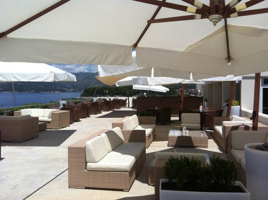 Valamar Dubrovnik President Hotel : view from sun loungers on 5th floor nr outdoor pool