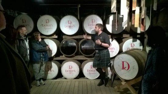Dewar's Aberfeldy Distillery: The old warehouse
