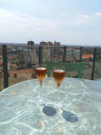 Les Terrasses de Lyon : Coupe de Champagne Drappier Rosé