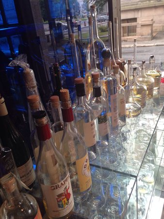 Fjord Restaurant: Some of our grappa
