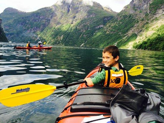 Active Geiranger: Family kayaking in Geiranger Fjord