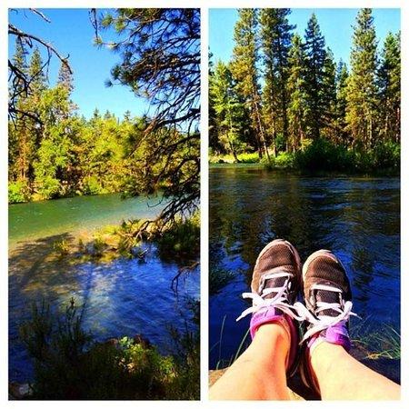 Suncadia Resort: trails near the river