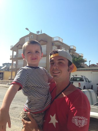 Hotel Esra and Family Suites: Jayden with Tito :)