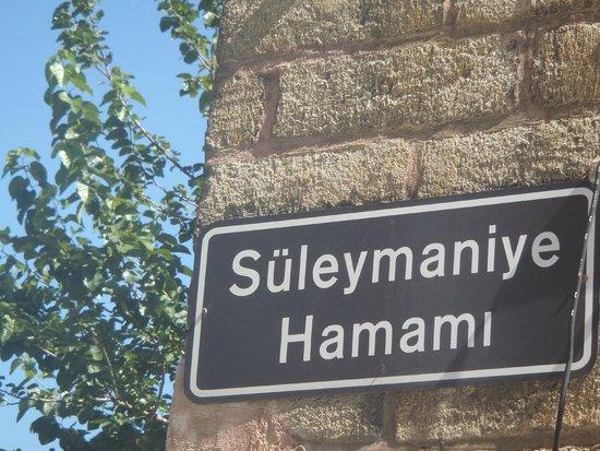 Suleymaniye Hamam: Street sign