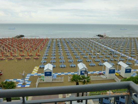 Hotel Nettuno : Panorama della spiaggia dalla camera