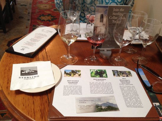 Sterling Vineyards: tasting