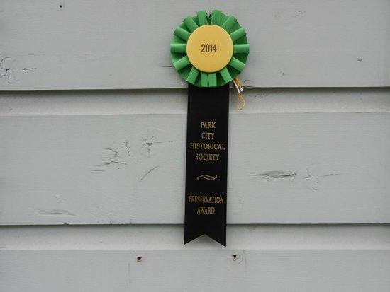 Park City Main Street Historic District: Historical Society Building Award