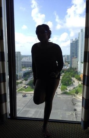 Hilton Miami Downtown : dont fall.. the view is amazing !!