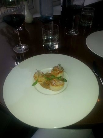 The Restaurant at The Cottage in the Wood : Seared Scallop