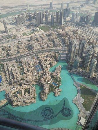 Burj Khalifa: desde el piso 124 así se ven los rascacielos que le rodean