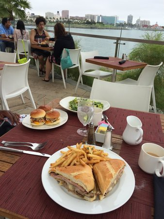 Hotel Maya - a DoubleTree by Hilton Hotel: Cubano Sandwich and Salmon Sliders