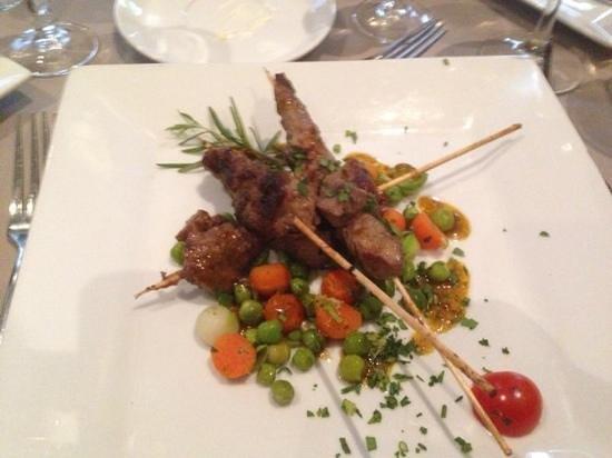 Hotel Riu Palace Tikida Agadir: Lamb kebabs in Moroccan restaurant