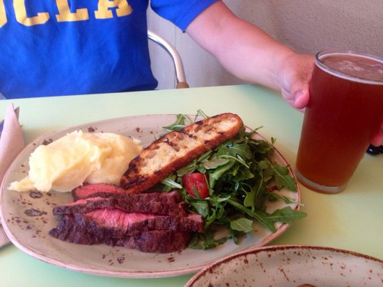 Tender Greens: Steak salad with a refreshing IPA.