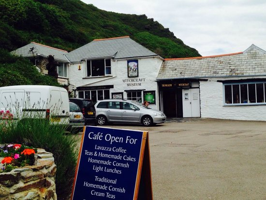 The Museum of Witchcraft and Magic: The outside of the museum, situated along Boscastle's small but cute harbour side