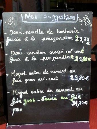 La Route du Miam: The menu