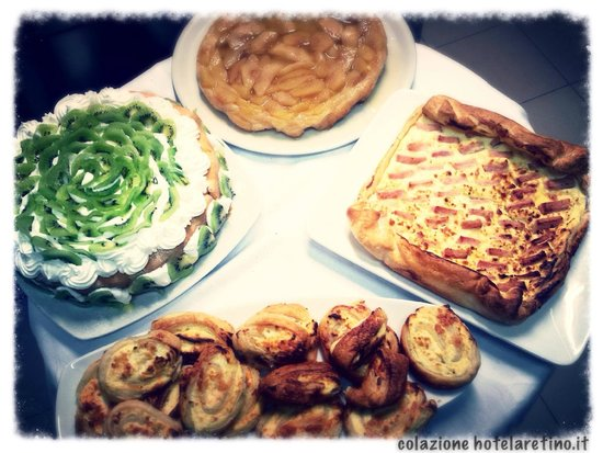 Hotel L'Aretino: Torte dolci e salate Hotel Aetinp 0575 294003