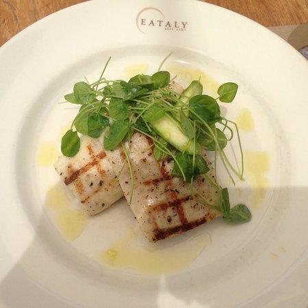 Birreria: Swordfish on Crushed Fava Beans