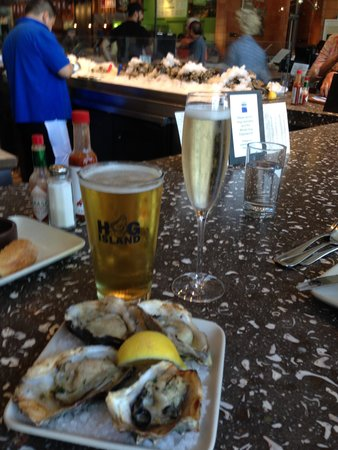 Hog Island Oyster Company: cooked oysters- YUM!