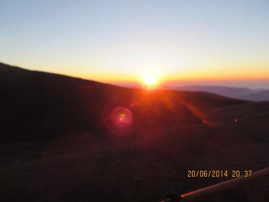 Monte Etna: Sonnenuntergang am Etna