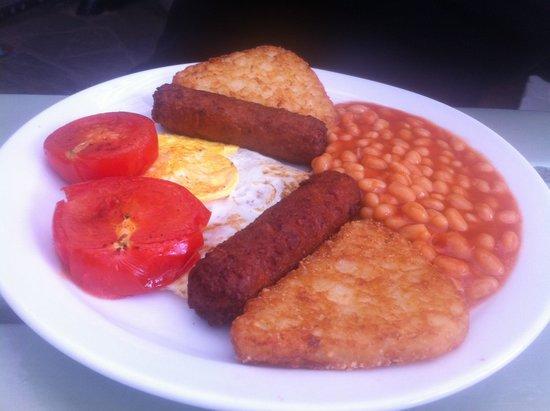 Cobblestones Cafe: Delicious veggie breakfast!