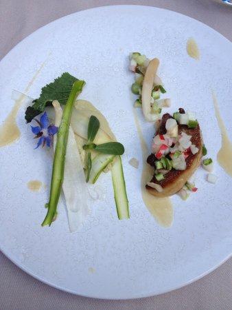 l'u.ni : Foie Gras, Refreshing with small flower