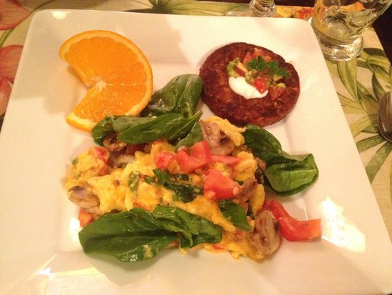 Casa Grandview: Veggie Scramble with Black Bean Cake