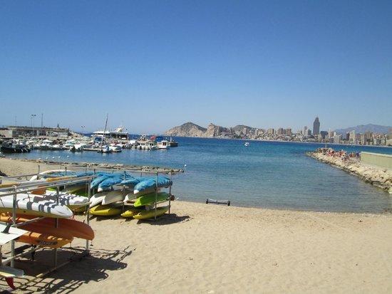 Poniente Beach : Small harbour at Pontiente beach