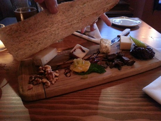 The Pink Door: Cheese board appetiser for two