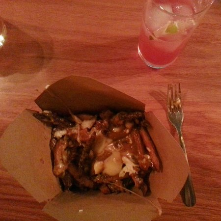 Warsaw, IN: Poutine. Strips of beef heart. To die for.