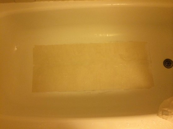Econo Lodge: Bottom of bath tub