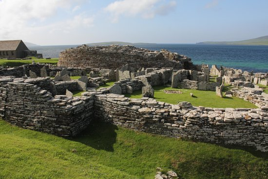 Broch of Gurness: Broch tower and dwellings