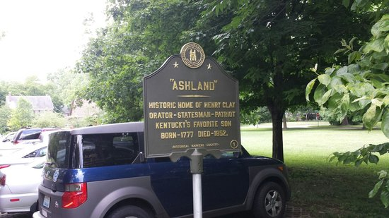 Ashland: The Henry Clay Estate : The sign told me as much as the guide