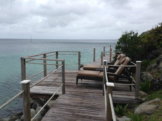 Grand Case Beach Club: Many small decks are available for ocean and sunset viewing