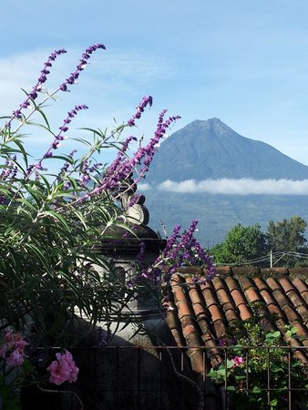 Candelaria Antigua Hotel: View of Volcan de Augua from the terrace
