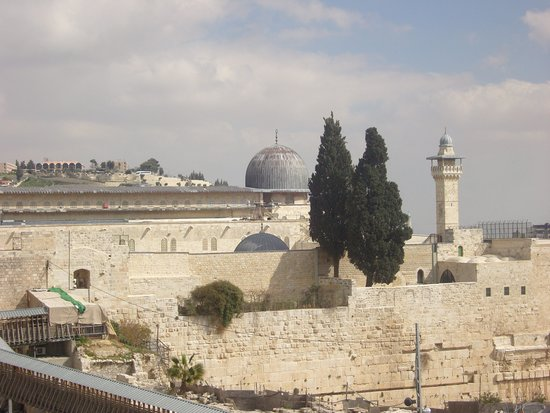 Mur des lamentations : view over the wall