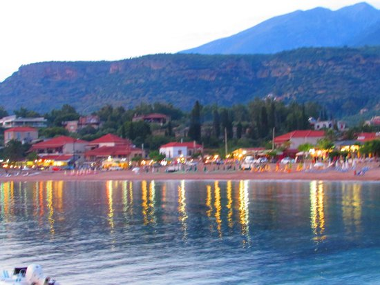 Akrogiali : View from our table