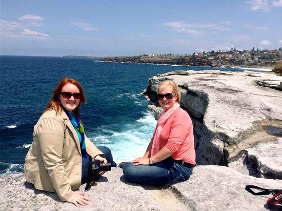 Bondi to Coogee Beach Coastal Walk : Sitting on the edge...beautiful view