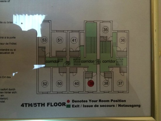 Albany House: floor plan. rooms 39, 38, 35 are very small