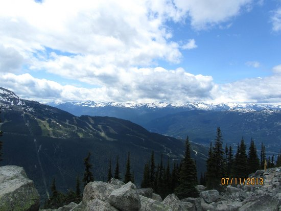 Whistler Blackcomb: View from Whistler Mountains.