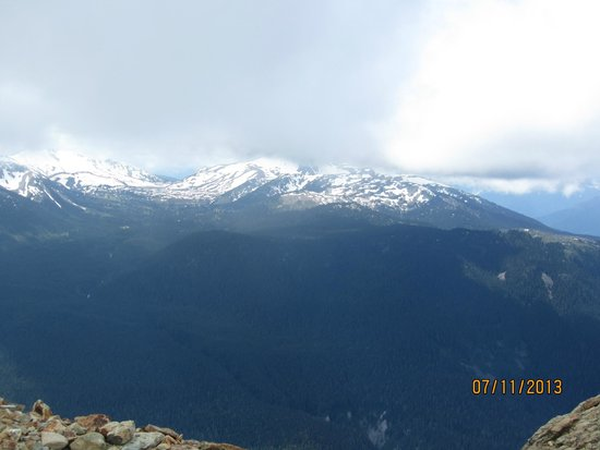 Whistler Blackcomb: View from the top of Blackcomb.