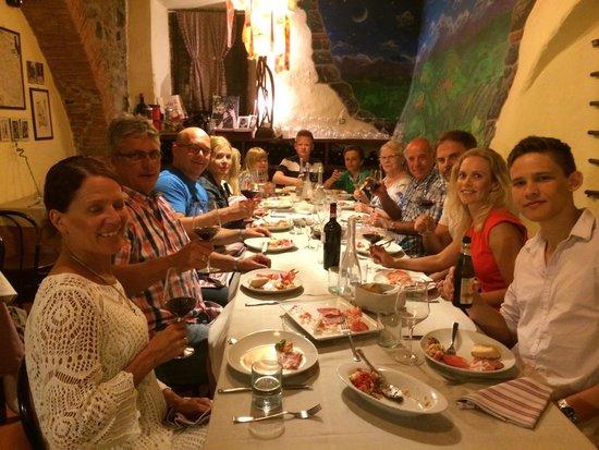 Osteria la Botte Vagliagli: Dinner with family and friends