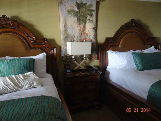 Pacific Terrace Hotel: room plush beds